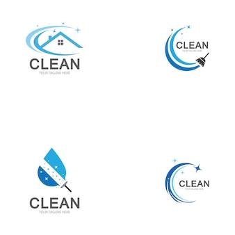 Sjabloon voor schoonmaaklogo