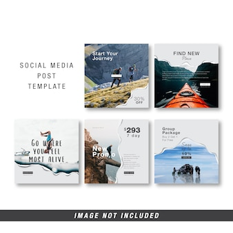 Sjabloon voor sociale media reizen