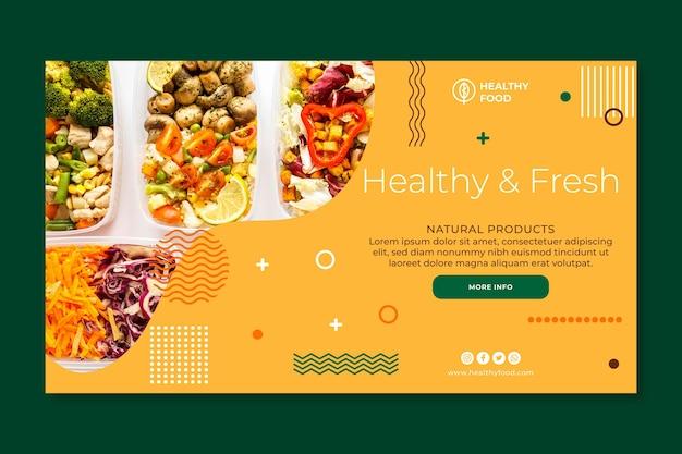 Sjabloon voor spandoek bio en gezond eten