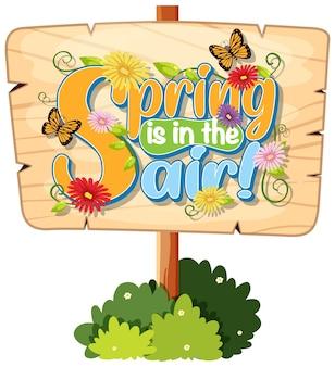 Sjabloon voor spandoek bloemen lente
