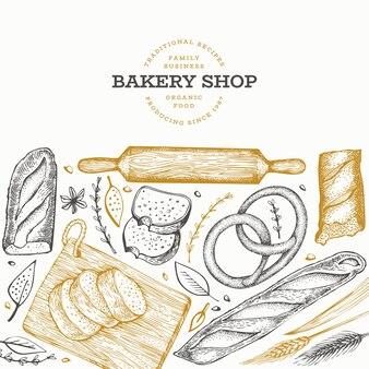 Sjabloon voor spandoek brood en gebak