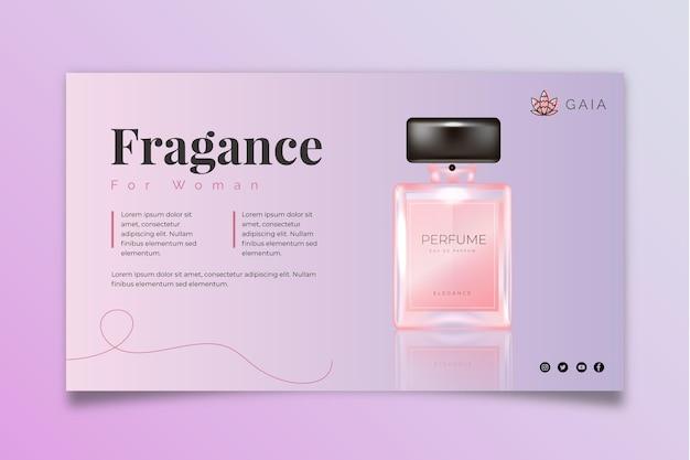 Sjabloon voor spandoek cosmetische fles