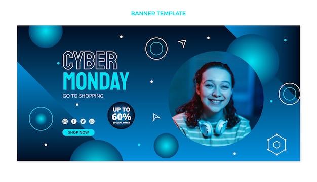 Sjabloon voor spandoek cyber maandag