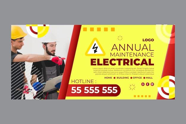 Sjabloon voor spandoek elektricien