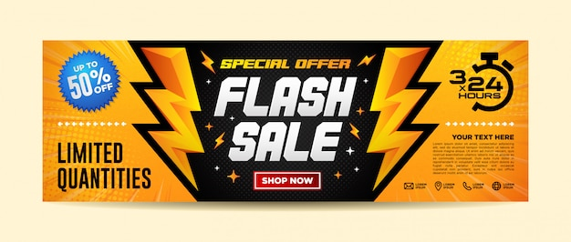 Sjabloon voor spandoek flash verkoop
