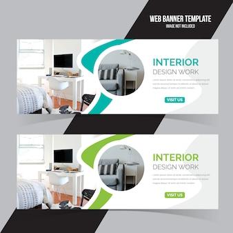 Sjabloon voor spandoek interieur web