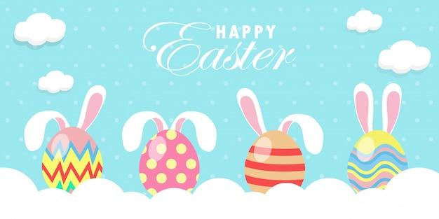 Sjabloon voor spandoek konijn bunny easter