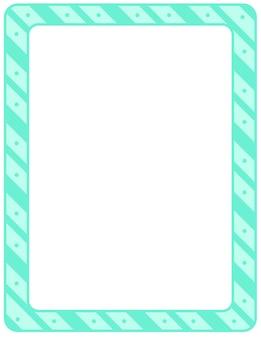 Sjabloon voor spandoek leeg diagonale strepen frame