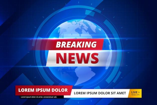 Sjabloon voor spandoek live brekend nieuws