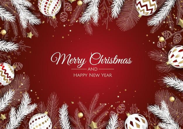 Sjabloon voor spandoek merry christmas-verkoop. wenskaart, spandoek, poster, koptekst voor website