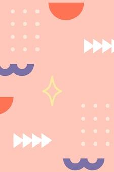 Sjabloon voor spandoek met geometrisch patroon