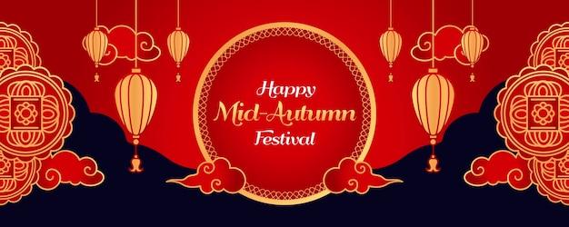 Sjabloon voor spandoek midden herfst festival