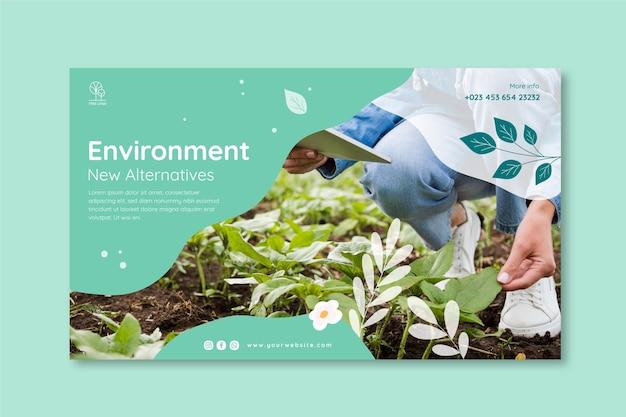 Sjabloon voor spandoek milieu