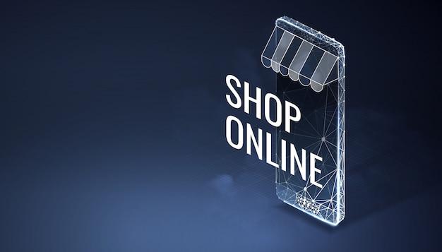 Sjabloon voor spandoek online winkel
