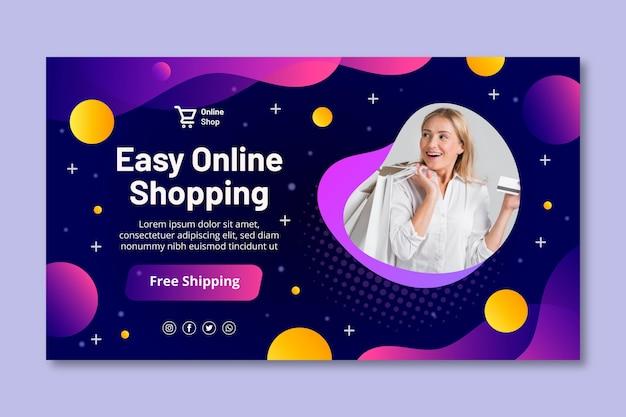 Sjabloon voor spandoek online winkelen