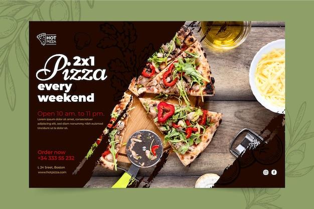 Sjabloon voor spandoek pizzarestaurant