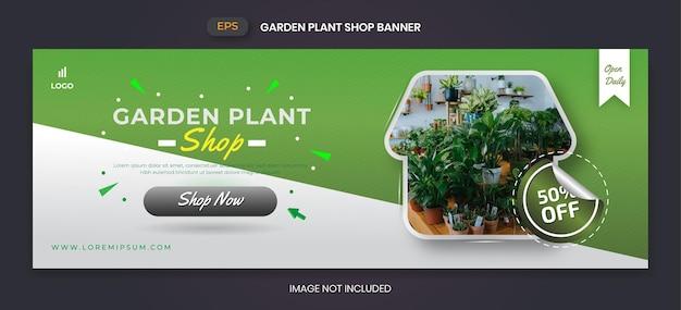 Sjabloon voor spandoek plantenwinkel