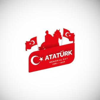 Sjabloon voor spandoek plat ontwerp turkije onafhankelijkheidsdag