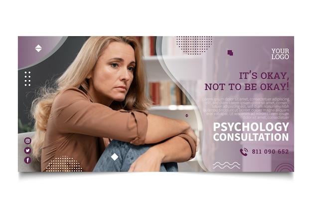 Sjabloon voor spandoek psychologie consult