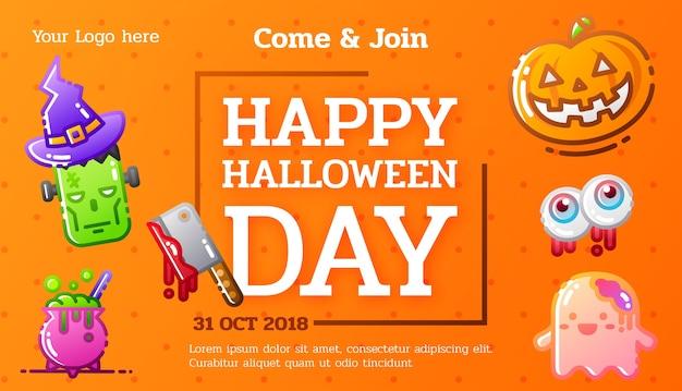 Sjabloon voor spandoek sjabloon voor halloween-feest
