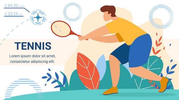 Sjabloon voor spandoek sportman tennis speler