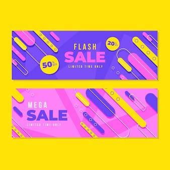 Sjabloon voor spandoek van abstracte verkoop