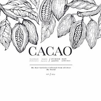 Sjabloon voor spandoek van cacao.