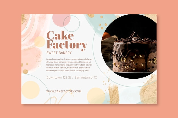 Sjabloon voor spandoek van cakefabriek
