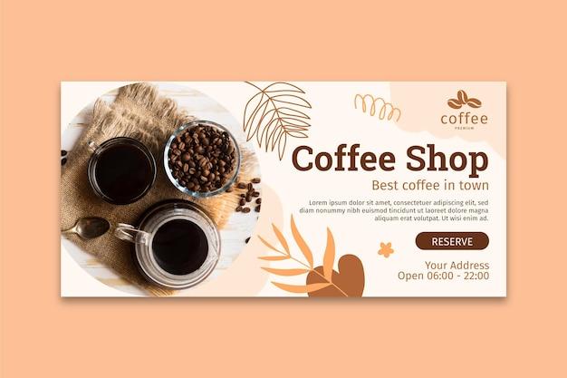 Sjabloon voor spandoek van coffeeshop