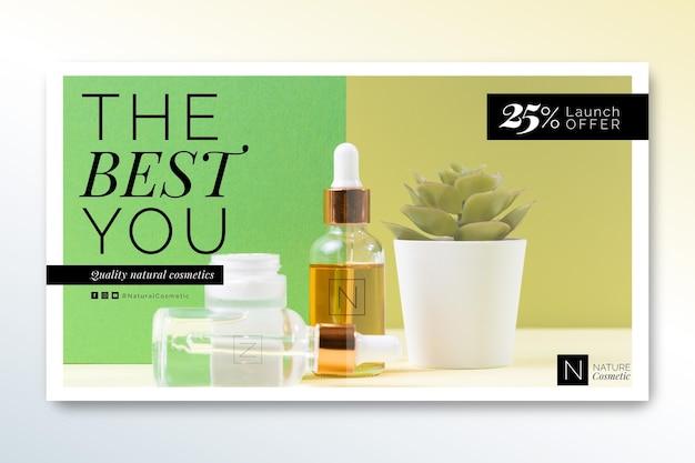 Sjabloon voor spandoek van cosmetica winkel