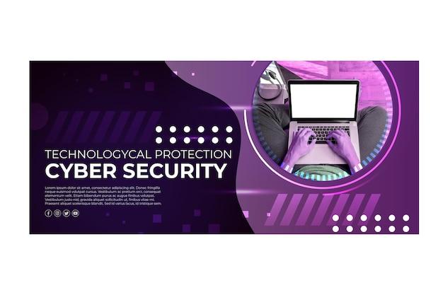 Sjabloon voor spandoek van cyberbeveiliging