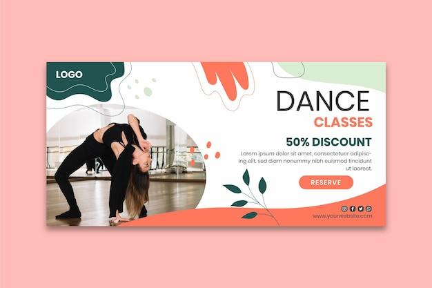 Sjabloon voor spandoek van danslessen