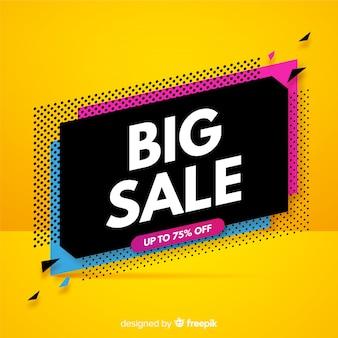 Sjabloon voor spandoek van de abstracte verkoop promotie
