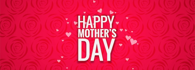Sjabloon voor spandoek van de dag van de mooie moederdag