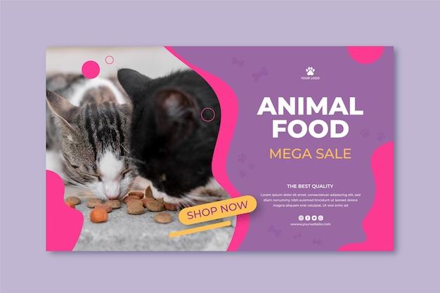 Sjabloon voor spandoek van dierlijk voedsel