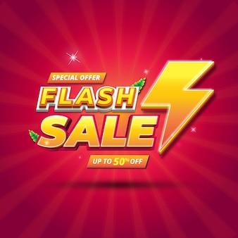 Sjabloon voor spandoek van flash-verkoop