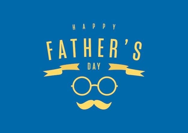 Sjabloon voor spandoek van gelukkige vaderdag.