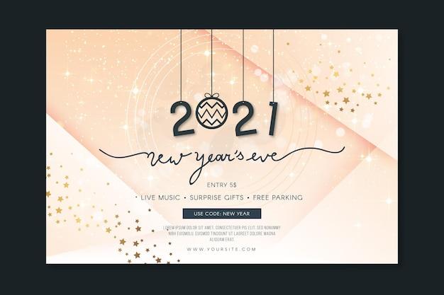 Sjabloon voor spandoek van het nieuwe jaar