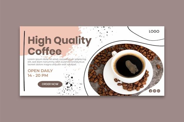 Sjabloon voor spandoek van hoge kwaliteit koffie