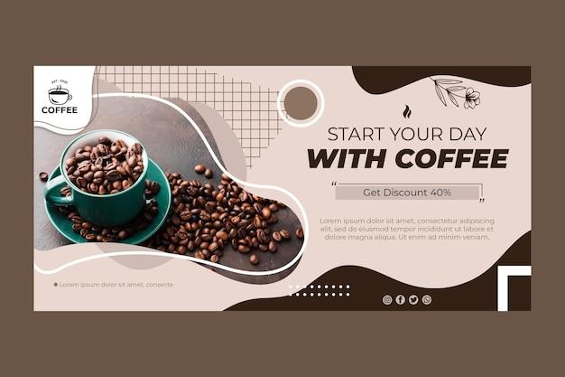 Sjabloon voor spandoek van koffiebonen