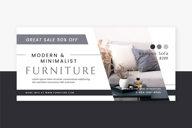 Sjabloon voor spandoek van meubelverkoop
