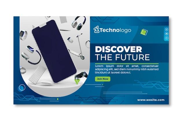 Sjabloon voor spandoek van mobiele tech
