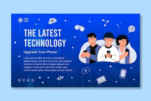 Sjabloon voor spandoek van mobiele technologie