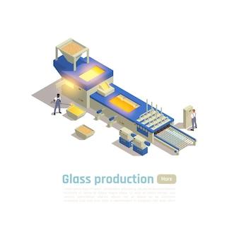 Sjabloon voor spandoek van moderne glazen container