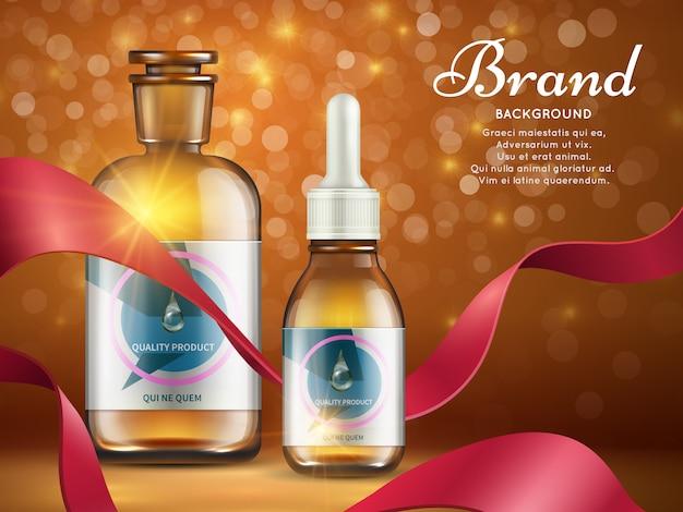 Sjabloon voor spandoek van natuurlijke cosmetica producten