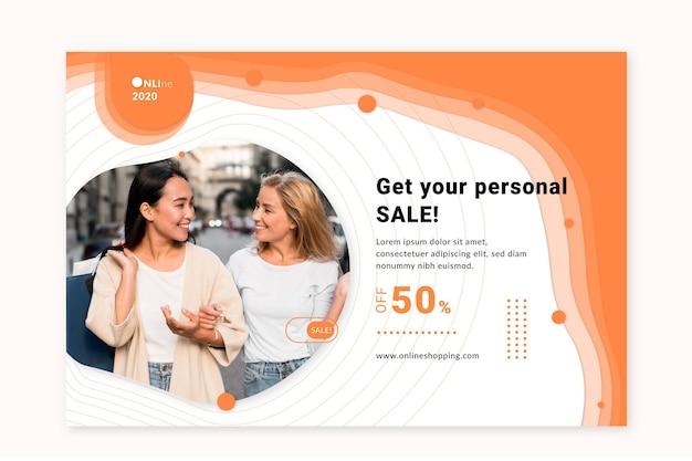 Sjabloon voor spandoek van online boodschappenservice
