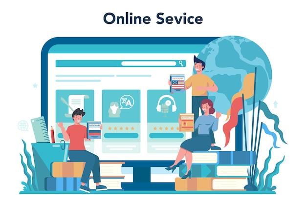 Sjabloon voor spandoek van online platform