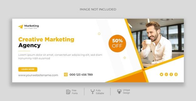 Sjabloon voor spandoek van professioneel digitaal marketingbureau premium vector