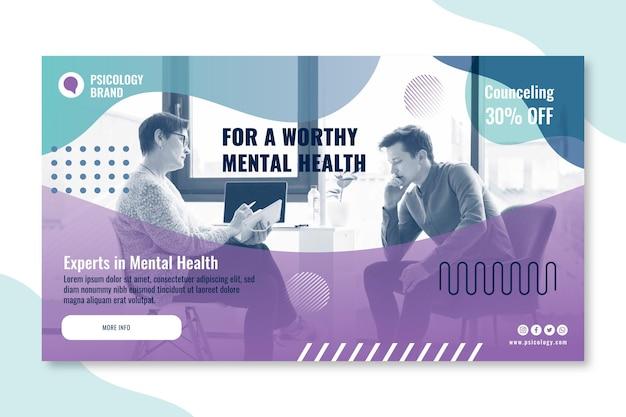 Sjabloon voor spandoek van psychologie consulting
