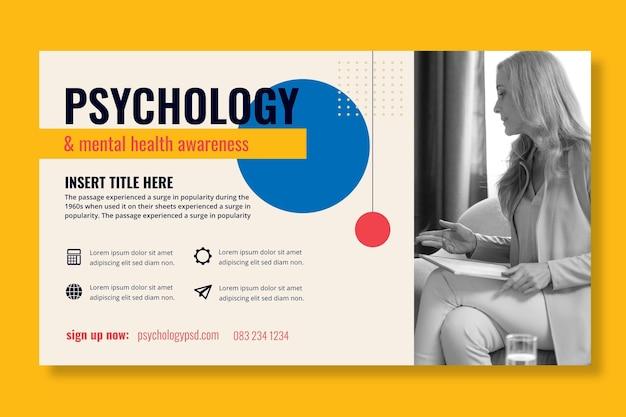 Sjabloon voor spandoek van psychologie